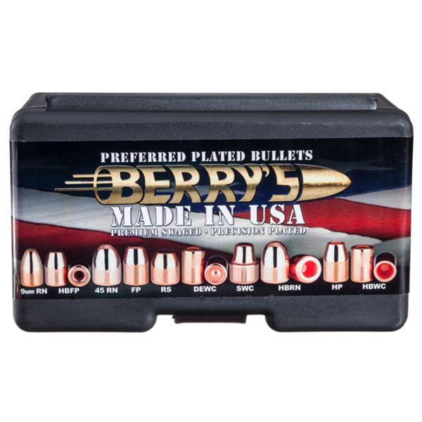 Berry's Preferred Plated Pistol Bullets - .44 Caliber - 240 Grain - FP