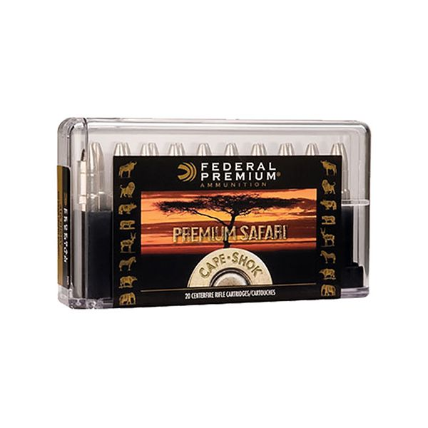 Federal Premium Cape-Shok Centerfire Rifle Ammo - .458 Winchester Magnum - 500 Grain - 20 Rounds - Trophy Bonded Bear Claw