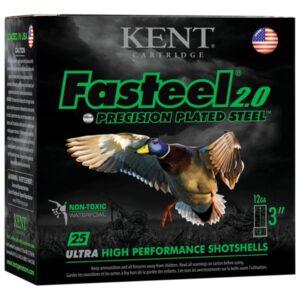 Kent Fasteel 2.0 Precision Plated Steel Shotgun Shells - 12 Gauge - #1 - 3' - 25