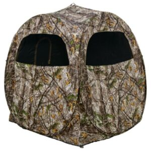 Pursuit Spring Steel Ground Blind in Zonz Woodland Camo