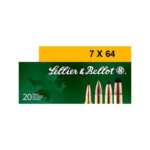 Sellier &Bellot Centerfire Rifle Ammo - 7X64mm Brenneke - 173 Grain - 20 Rounds