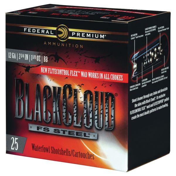 Federal Premium Black Cloud FS Waterfowl Shotgun Shells with FliteControl FLEX Wad - PWBX107 BB