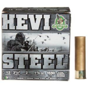HEVI-Shot HEVI-Steel Shotshells - 12 Gauge - Size 2 - 3' - 250 Rounds