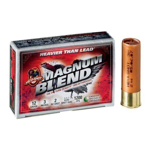 HEVI-Shot Magnum Blend Turkey Load Shotshells - 12 ga.-2 oz. - 5 Rounds
