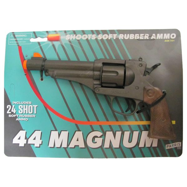 Parris Toys 44 Magnum Toy Gun with Soft Rubber Ammo
