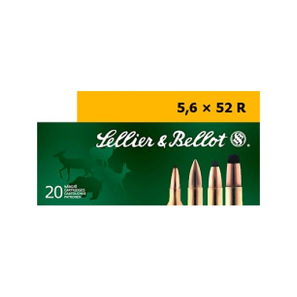 Sellier &Bellot Centerfire Rifle Ammo - 5.6mmX52R - 70 Grain - 20 Rounds - FMJ