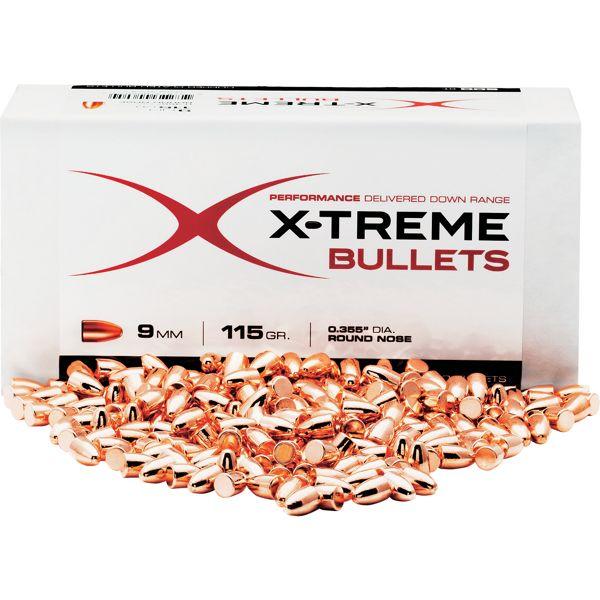 X-Treme Bullets Copper Plated Pistol Bullets - XB45R230B500