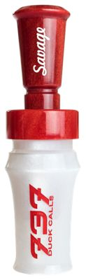 737 Duck Calls Savage Duck Call - White/Red/Red