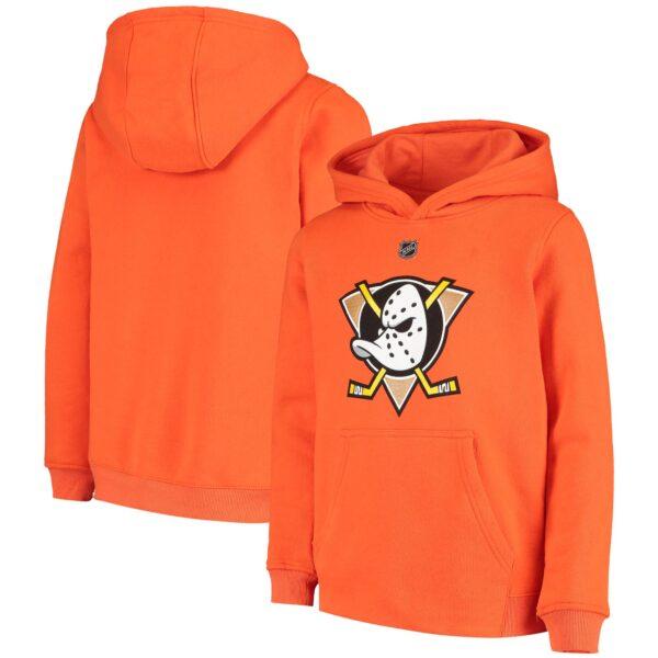 Anaheim Ducks Youth Orange Alternate Program Pullover Hoodie