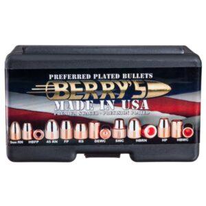Berry's Preferred Plated Pistol Bullets - 9mm - 147 Grain - RN