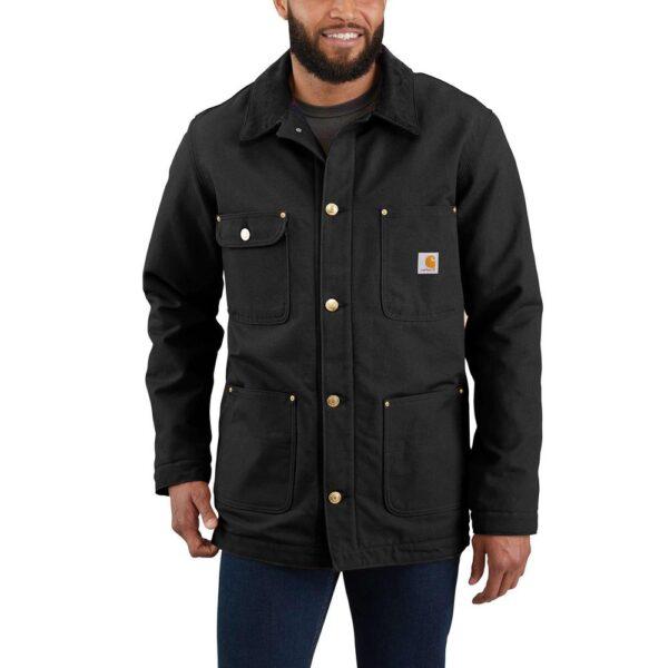 Carhartt Men's 3X-Large Black Cotton Firm Duck Chore Coat