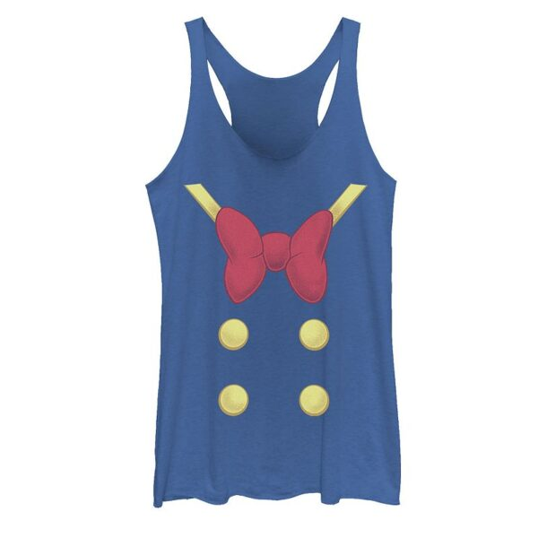 Disney's Mickey Mouse & Friends Juniors' Donald Duck Halloween Costume Graphic Tank, Girl's, Size: XL, Blue