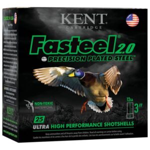 Kent Fasteel 2.0 Precision Plated Steel Shotgun Shells - 12 Gauge - #2 - 3' - 25