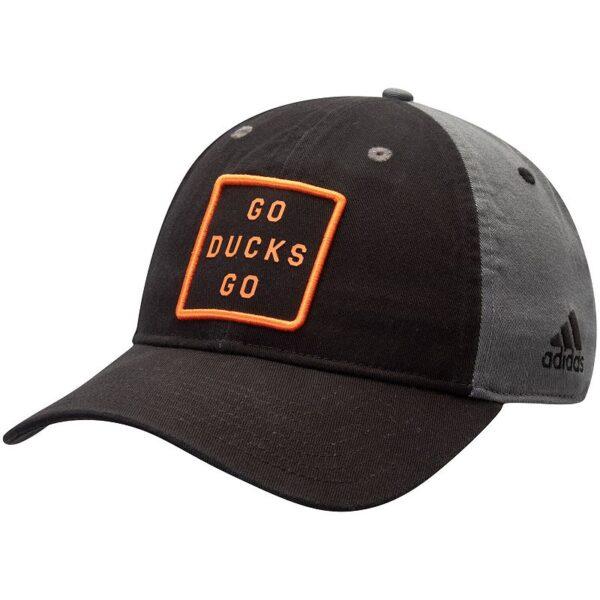 Men's adidas Black/Gray Anaheim Ducks Team Slogan Adjustable Hat