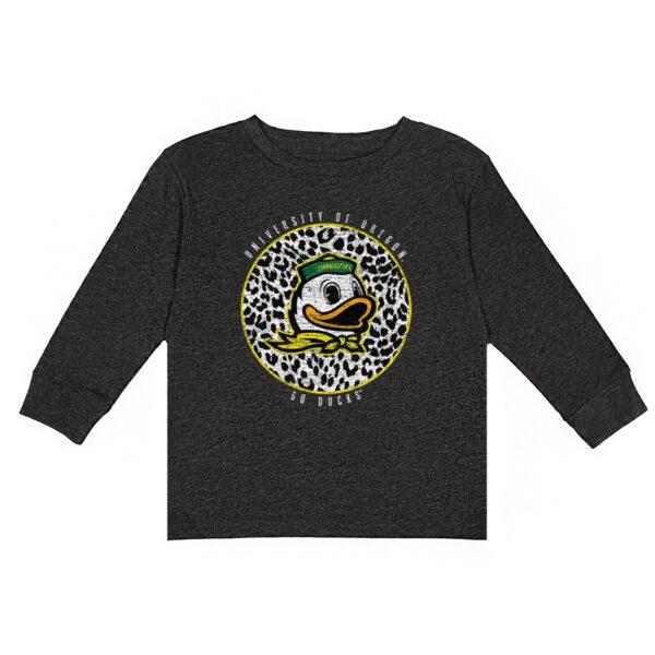 Oregon Ducks Youth Charcoal Call the Shots Long Sleeve T-Shirt