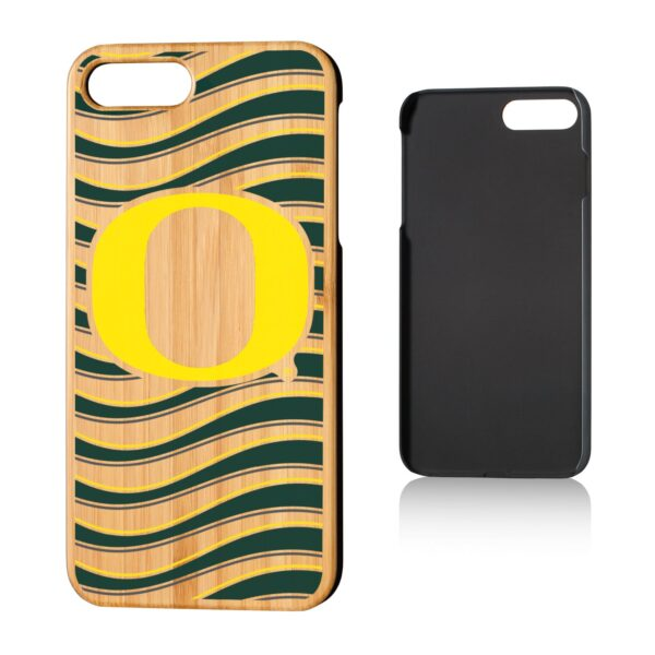 Oregon Ducks iPhone Wavy Team Bamboo Case